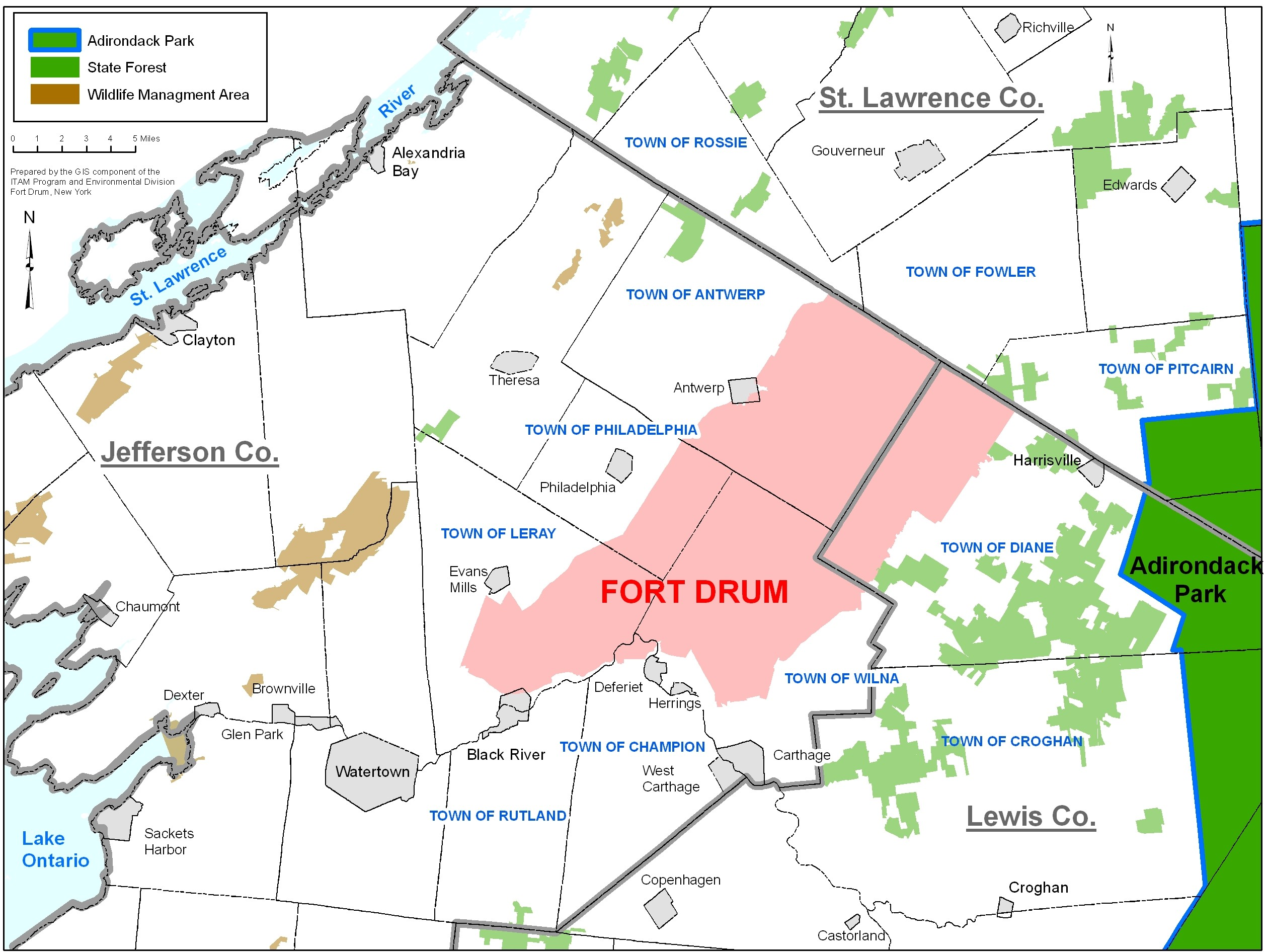 Home - Fort Drum - iSportsman  Z New York State Hunting Zone Map on